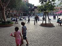 Kids in the Discovery Bay Plaza